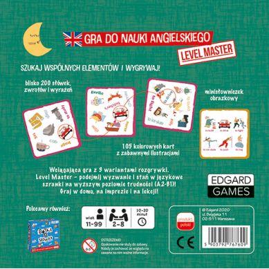 Edgard Games - Gra do Nauki Angielskiego Bójka na Słówka Level Master Poziom A2.B1 11+