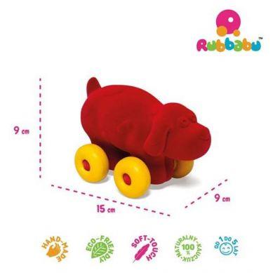 Rubbabu -  Pies Pojazd Sensoryczny Czerwony