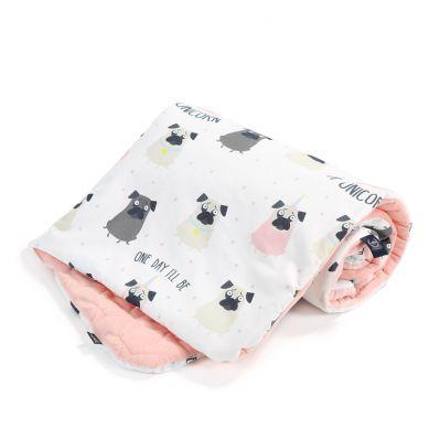 La Millou - Kocyk/Średniaka Velvet Collection 80x100 Doggy Unicorn Powder Pink