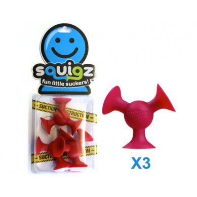 Fat Brain Toys - Przyssawki Squigz Dodatkowe 3 Czerwone