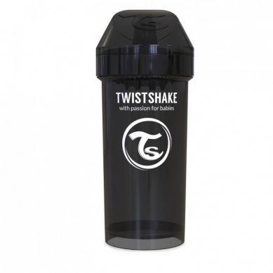 Twistshake - Kubek Niekapek z Mikserem do Owoców 360ml Czarny