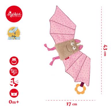 Sigikid - Przytulaczek - komforter Różowy Nietoperz