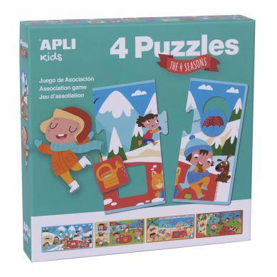 Apli Kids - Puzzle 4 Układanki Cztery Pory Roku 3+