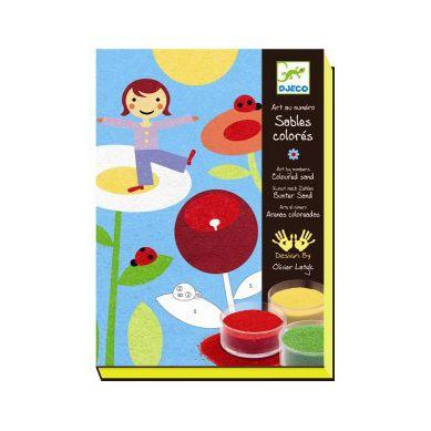 Djeco - Zestaw Artystyczny z Kolorowymi Piaskami