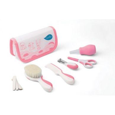 Nuvita - Zestaw Akcesoriów do Pielęgnacji Dziecka w Kosmetyczce Pink