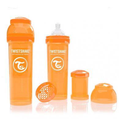 Twistshake - Butelka Anty-kolkowa 330ml Pomarańczowa