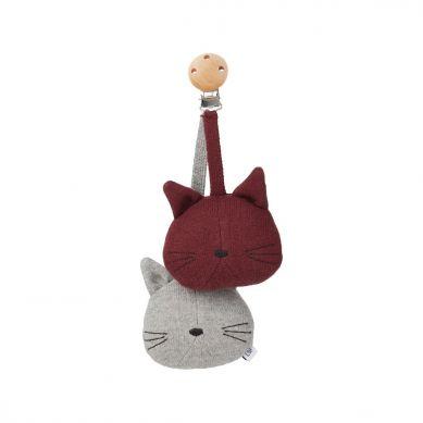 Liewood - Zawieszka do Wózka Cat Grey Melange