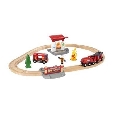 BRIO - World Zestaw Kolejka Straż Pożarna