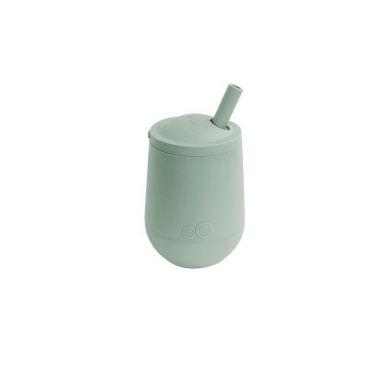 EZPZ - Silikonowy Kubeczek ze Słomką Mini Cup + Straw Training System 120 ml Pastelowa Zieleń