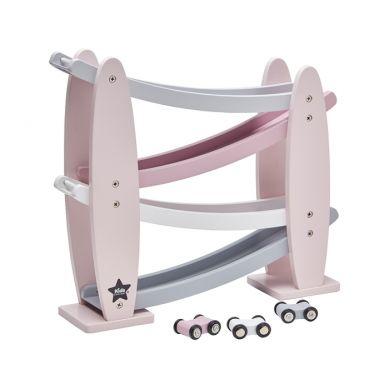 Kids Concept - Drewniana Zjeżdżalnia dla Samochodzików Pink