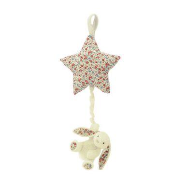 Jellycat -  Pozytywka Gwiazdka z Króliczkiem Blossom Cream