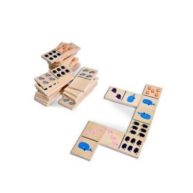 Buiten Speel - Domino Drewniane Zwierzątka