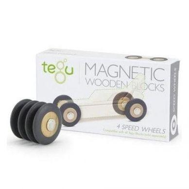 Tegu - Drewniane Klocki Magnetyczne Speed Wheels 1+