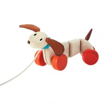 Plan Toys Szczęśliwy Piesek do ciągnięcia