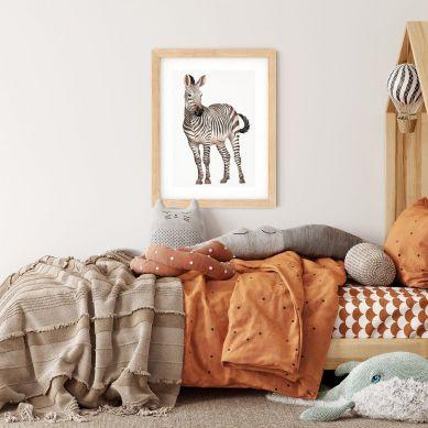 Pastelowelove - Plakat Zebra 30x40 cm