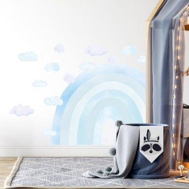 Pastelowelove - Naklejka na Ścianę Tęcza Niebieska