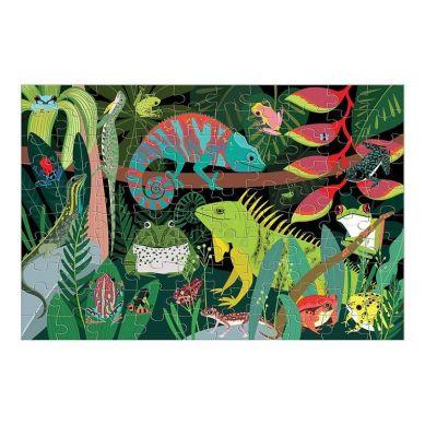 Mudpuppy - Puzzle Świecące w Ciemności Żaby i Jaszczurki 100 elementów 5+