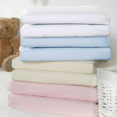 Bizzi Growin - White Sheets 2 Pack Prześcieradełka Różowe do Wózków i Koszy