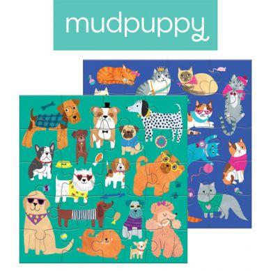 Mudpuppy - Puzzle Magnetyczne Koty i Psy 4+