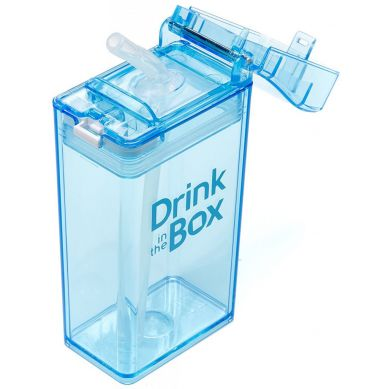 Drink In The Box - Bidon ze Słomką 240ml Blue
