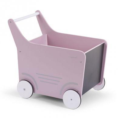 Childhome - Drewniany Pchaczyk na Zabawki Soft Pink