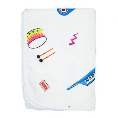 Maki Mon Ami - Cienki Kocyk Muślinowo-bawełniany Terrier Happy Instrumenty M