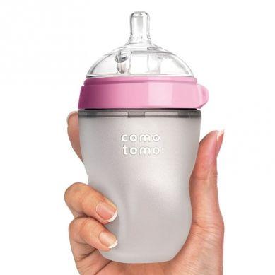 Comotomo - Antykolkowa Butelka Silikonowa Newborn 150 ml Pink