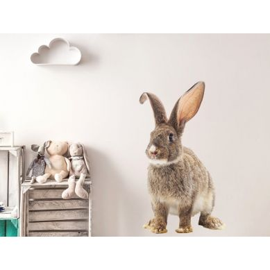Pastelowelove - Naklejka na Ścianę Królik Czesiu S 35x60 cm