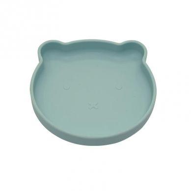 Bo Jungle - B-Talerzyk Silikonowy Bear z Przyssawką Blue Mint