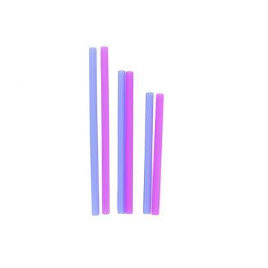 Silikids - Słomki Silikonowe Cobalt/Berry