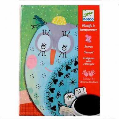Djeco - Zestaw Artystyczny ze Stempelkami Ozdabianie Zwierząt
