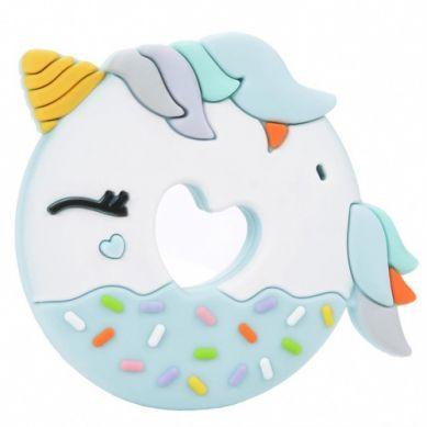 Loulou Lollipop - Gryzak Silikonowy Blue Unicorn Donut