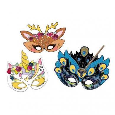 Auzou - Wydrapywanka Maski Zwierząt 5+