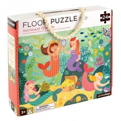 Petit Collage - Puzzle Podłogowe Syrenka