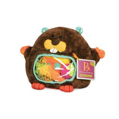 B.Toys - Pluszowy Bóbr ze Smakołykami Sensorycznymi na Brzuchu