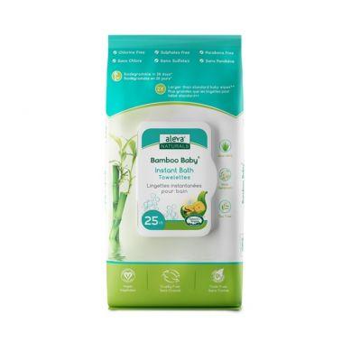 Aleva Naturals - Bambusowe Ręczniki Nawilżane do Mycia Dziecka