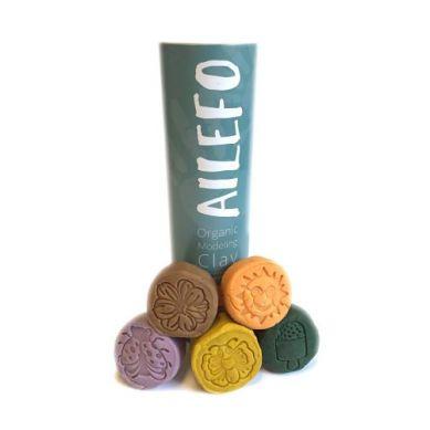Ailefo - Organiczna Ciastolina 5 Kolorów, Kolory Lasu, 100g 3+