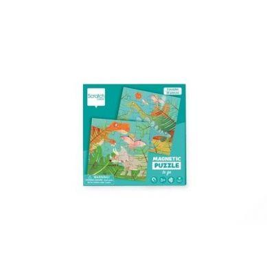Scratch - Podróżne Puzzle Magnetyczne Dino 40 elem. 3+