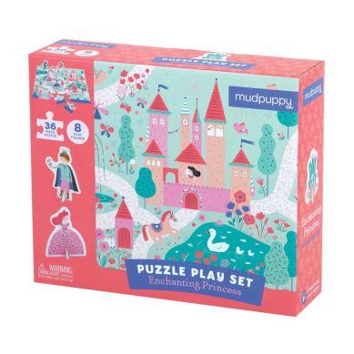 Mudpuppy - Puzzle Zestaw z 8 Figurkami Księżniczka