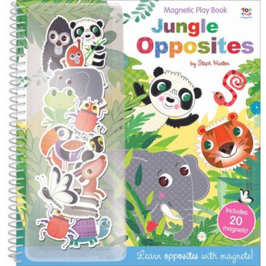 Wydawnictwo Usborne Publishing - Magnetic Play Book - Jungle Opposites