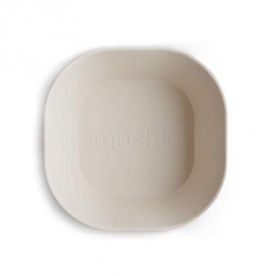 Mushie - 2 Miseczki Square Ivory