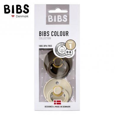 BIBS - Smoczek Uspokajający Hevea 2-pack S CHOCOLATE & SAND