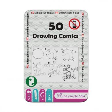 The Purple Cow - Podróżne Łamigłówki 50 Rysowanie Komiksów 5+