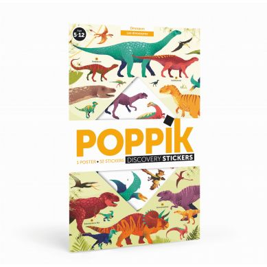 POPPIK - Wyklejanka Dinozaury 7+