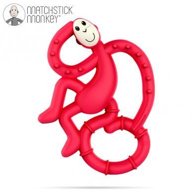 Matchstick Monkey - Mini Gryzak Masujący ze Szczoteczką Red