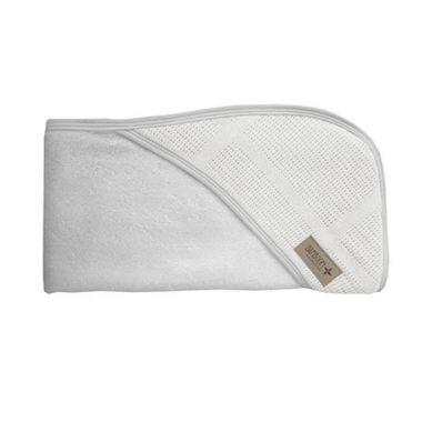 Bamboom - Ręcznik z Kapturem z Myjką 100% Bambus Organiczny Biały Seria New Vintage