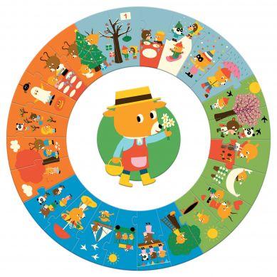Djeco - Puzzle Gigant Pory Roku