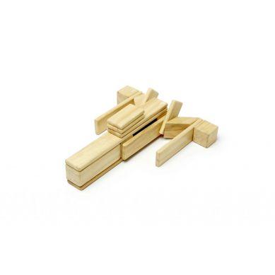Tegu - Drewniane Klocki Magnetyczne Classics Zestaw 24szt Natural