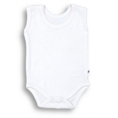 Nanaf Organic - Body na Ramiączkach Basic Białe 74cm