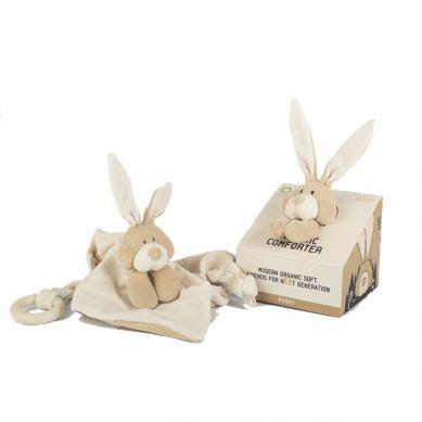 Wooly Organic - Organiczny Przytulaczek z Drewnianym Gryzakiem Classic Bunny Zajączek 24 cm